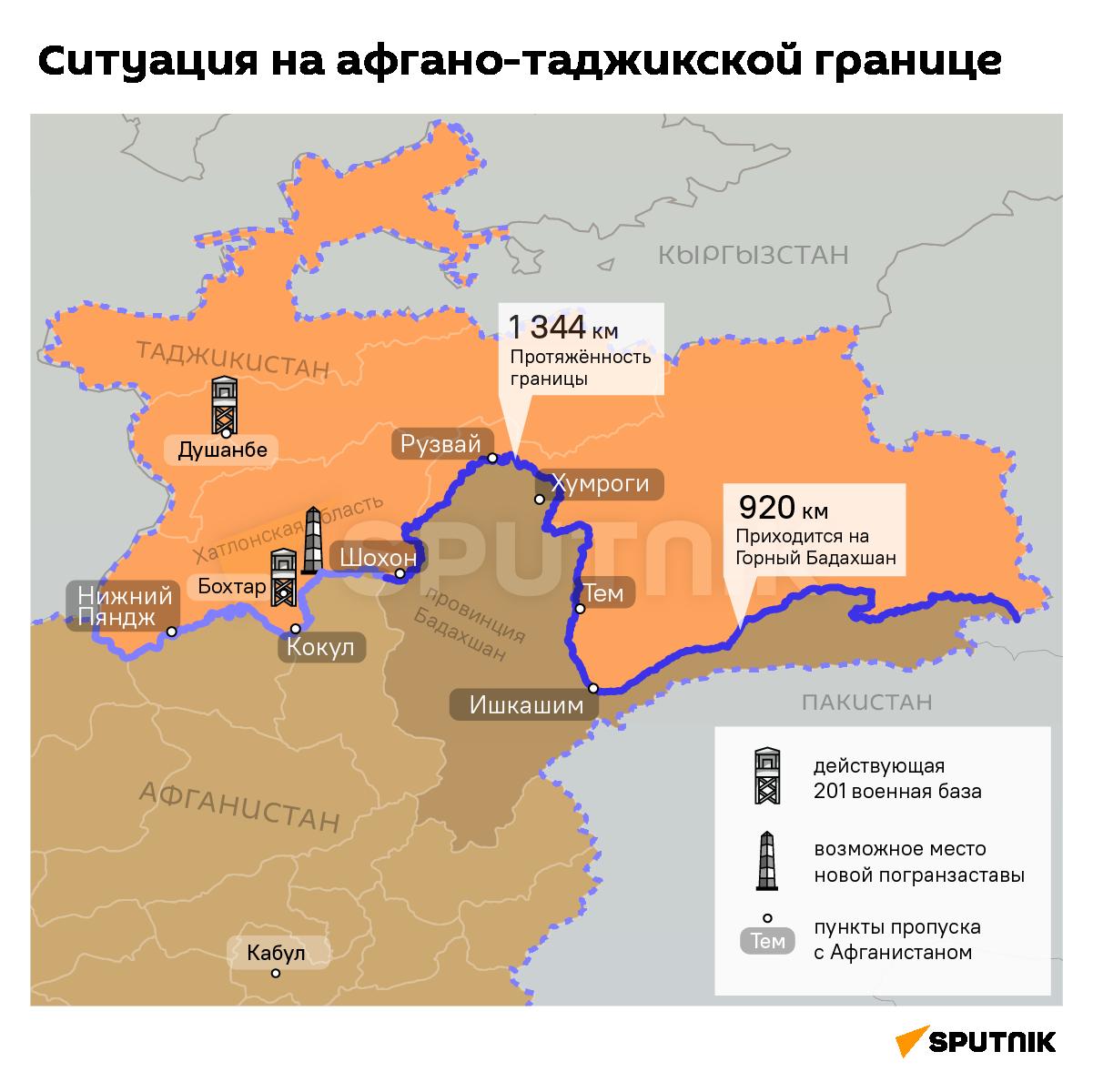 Ситуация на границе Таджикистана и Афганистана - Sputnik Таджикистан