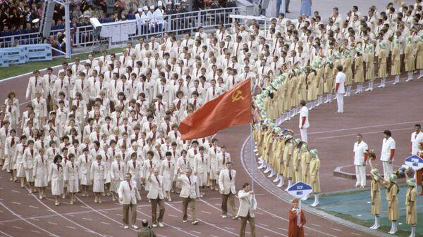 Национальная олимпийская команда СССР на церемонии открытия Олимпиады-80 - Sputnik Тоҷикистон