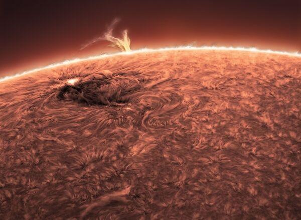 Снимок Eruption украинского фотографа Elena Pakhalyuk из категории Our Sun, попавший в шортлист конкурса Insight Investment Astronomy Photographer of the Year 2020  - Sputnik Таджикистан