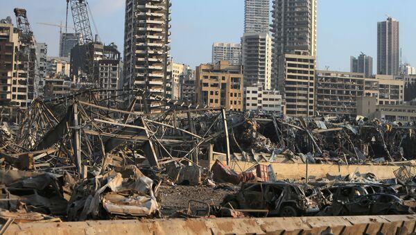 Последствия разрушения в Бейруте после взрыва - Sputnik Таджикистан