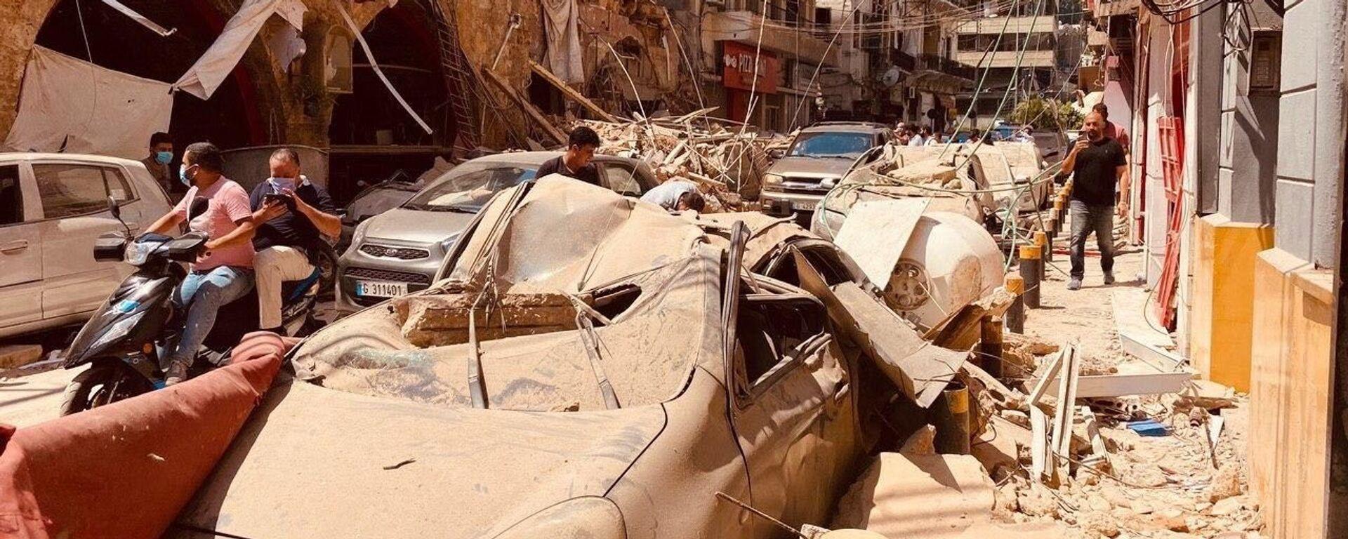 Последствия взрыва в Ливане - Sputnik Таджикистан, 1920, 05.08.2020