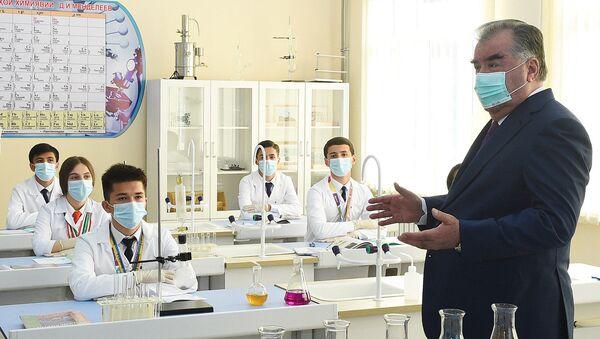 Открытие нового дополнительного корпуса и общежития Президентского лицея для одаренных детей Республики Таджикистан - Sputnik Таджикистан