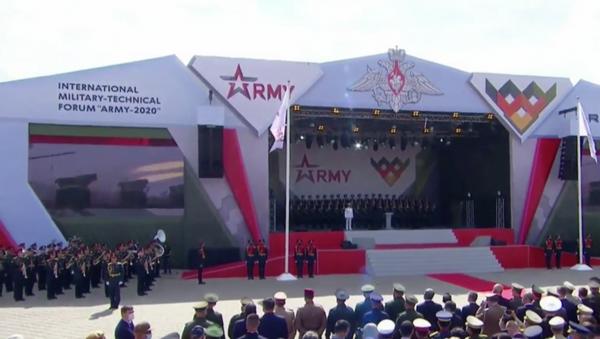 Церемония открытия выставки Армия-2020 и международных армейских игр - Sputnik Тоҷикистон