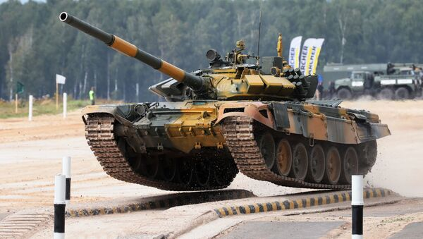 Соревнования по танковому биатлону Армия-2020 © Ruptly - Sputnik Тоҷикистон