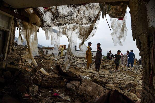 Разрушения после наводнения в Афганистане - Sputnik Таджикистан