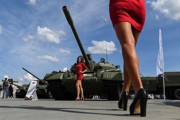 Танк Т-55А в статичной экспозиции выставки на Международном военно-техническом форуме (МВТФ) Армия-2020 в военно-патриотическом парке Патриот. - Sputnik Таджикистан
