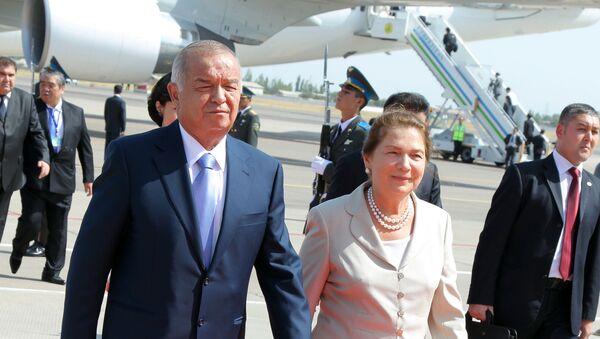 Первый президент Узбекистана Ислам Каримов вместе с супругой Татьяной во время очередного госвизита - Sputnik Таджикистан