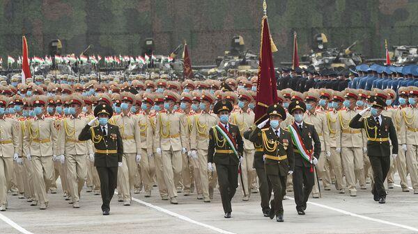 Военный парад национальной гвардии Таджикистана - Sputnik Таджикистан