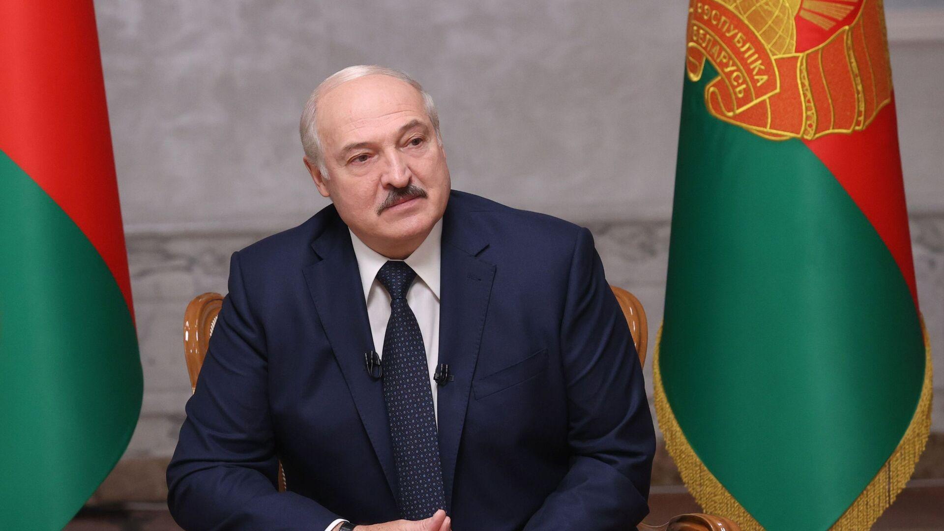 Президент Белоруссии А. Лукашенко дал интервью российским журналистам - Sputnik Таджикистан, 1920, 20.09.2021