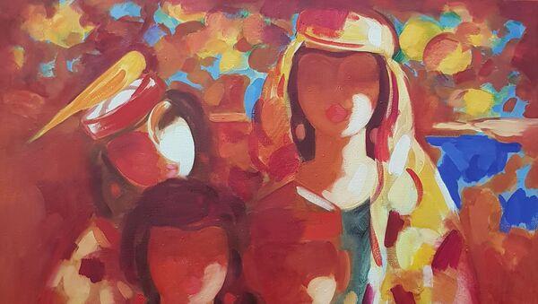 Картина таджикского художника Эраджа Олимова  - Sputnik Таджикистан