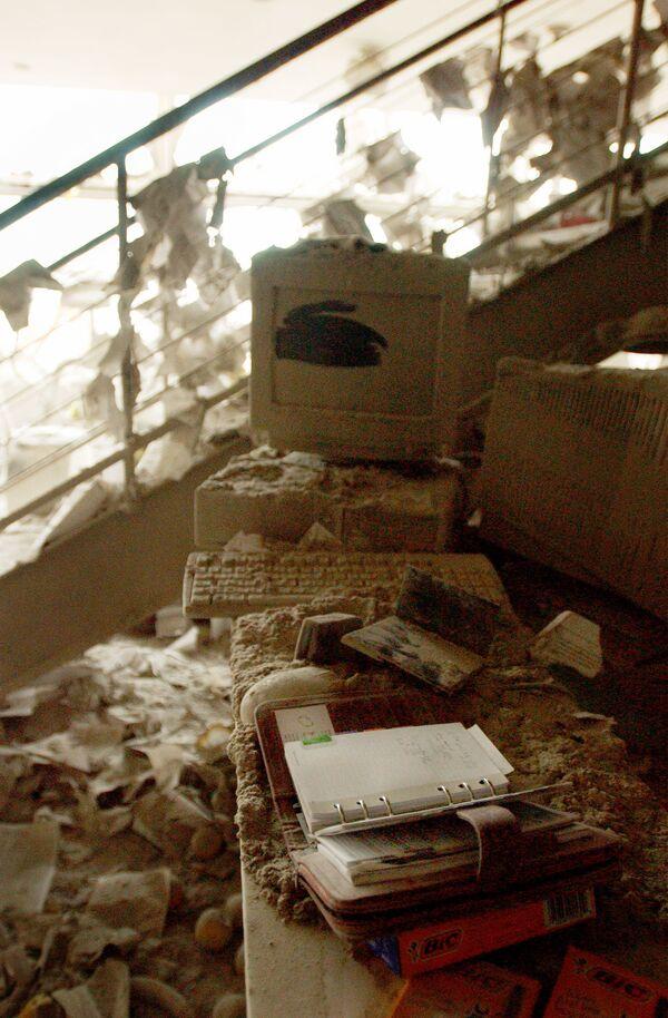 Предметы сотрудников Всемирного торгового центра после атаки 11 сентября  - Sputnik Таджикистан