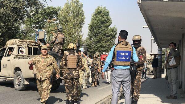 Место покушения на вице-президента Афганистана в Кабуле - Sputnik Тоҷикистон