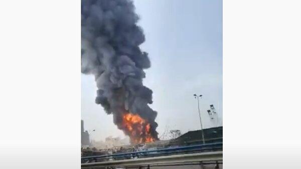 Пожар в Бейруте - Sputnik Таджикистан