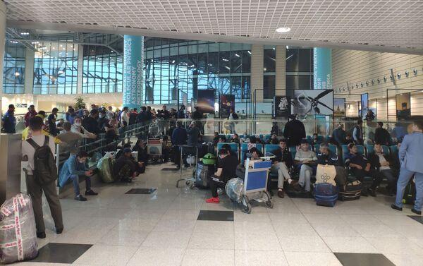 Пассажиры в аэропорту Домодедово - Sputnik Таджикистан