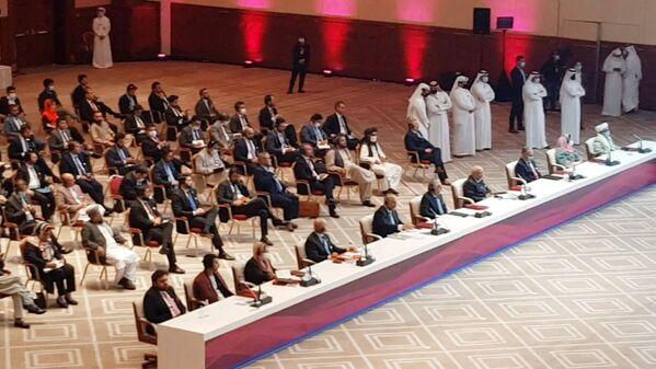 Переговоры между правительством Афганистана и движением Талибан (запрещено в РФ) в Катаре - Sputnik Таджикистан