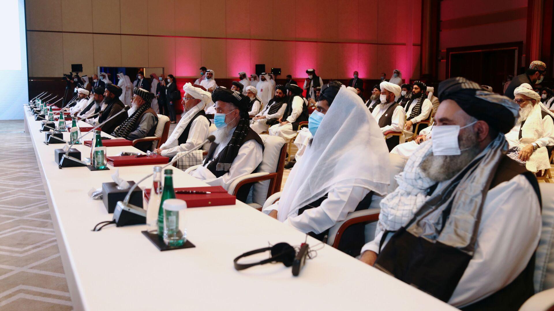 Переговоры между правительством Афганистана и движением Талибан (запрещено в РФ) в Катаре - Sputnik Тоҷикистон, 1920, 11.10.2021