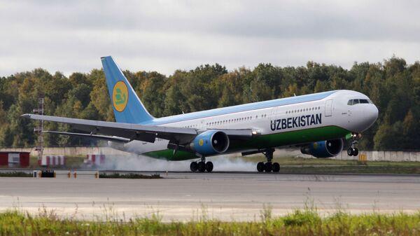 Боинг-767 авиакомпании Uzbekistan Airways в аэропорту Домодедово. - Sputnik Таджикистан