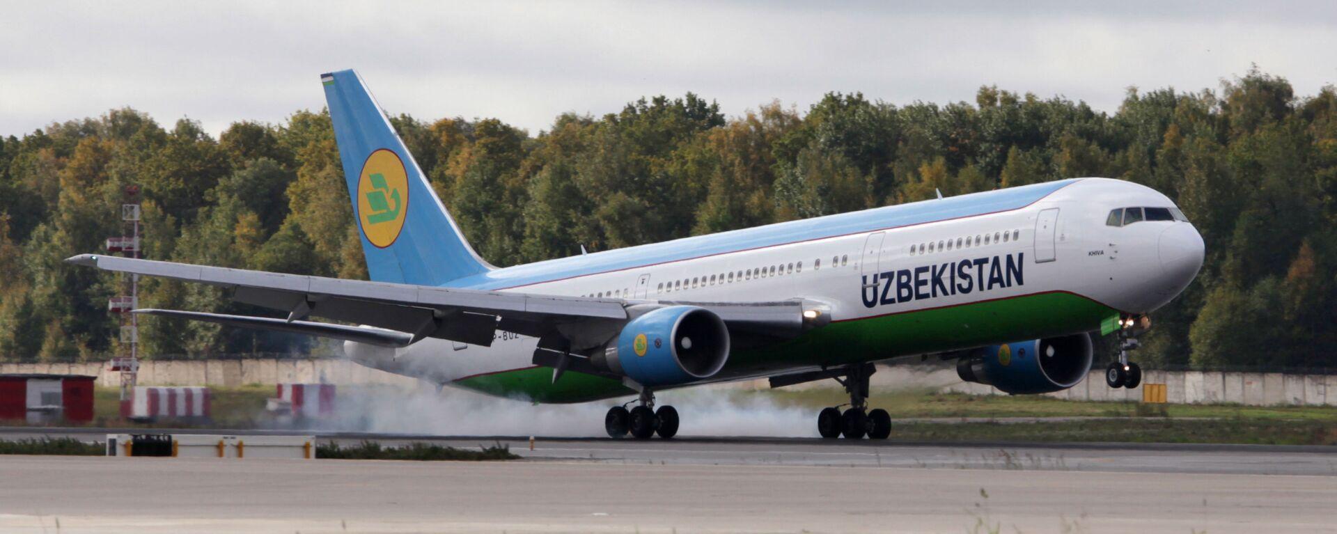 Боинг-767 авиакомпании Uzbekistan Airways в аэропорту Домодедово. - Sputnik Тоҷикистон, 1920, 20.04.2021