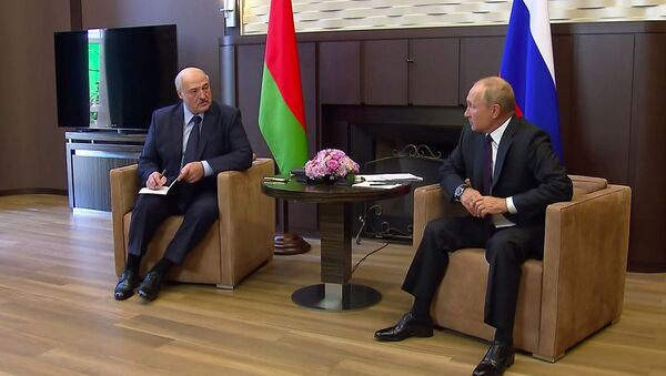 Владимир Путин и Александр Лукашенко - Sputnik Таджикистан