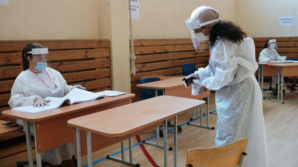 Голосование на выборах в условиях пандемии - Sputnik Таджикистан