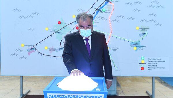 Эмомали Рахмон - запуск двух отреставрированных агрегатов ГЭСа Сарбанд - Sputnik Тоҷикистон