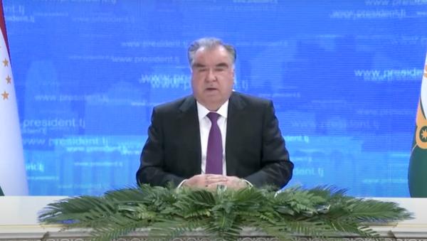 Видеопослание Президента Таджикистана Эмомали Рахмона Генассамблее ООН - YouTube - Sputnik Тоҷикистон