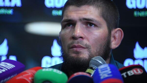 Российский чемпион UFC в лёгком весе Хабиб Нурмагомедов - Sputnik Таджикистан