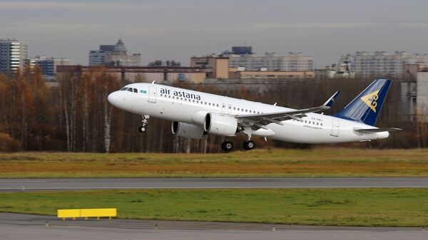 Самолет Airbus A320neo авиакомпании Air Astana - Sputnik Таджикистан
