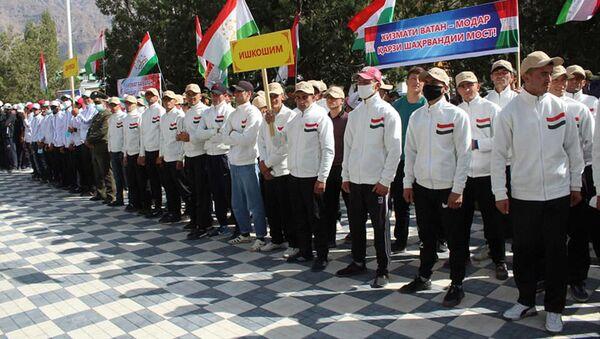 Призывники в армию Таджикистана в Бадахшане - Sputnik Тоҷикистон