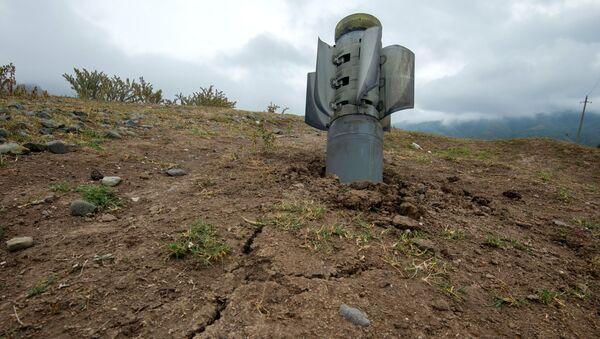 Реактивный снаряд системы Смерч на территории общины Иванян Нагорного Карабаха - Sputnik Тоҷикистон