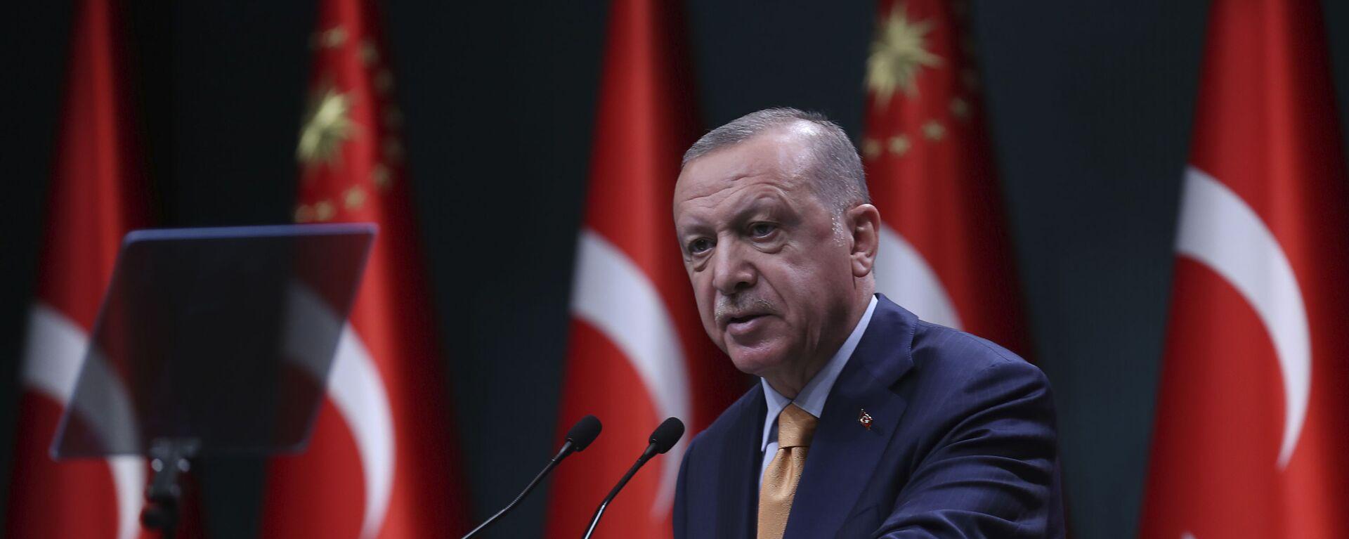 Президент Турции Реджеп Тайип Эрдоган - Sputnik Таджикистан, 1920, 13.04.2021