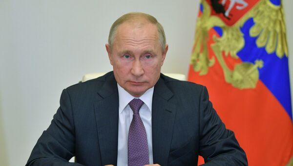 Президент РФ В. Путин - Sputnik Тоҷикистон