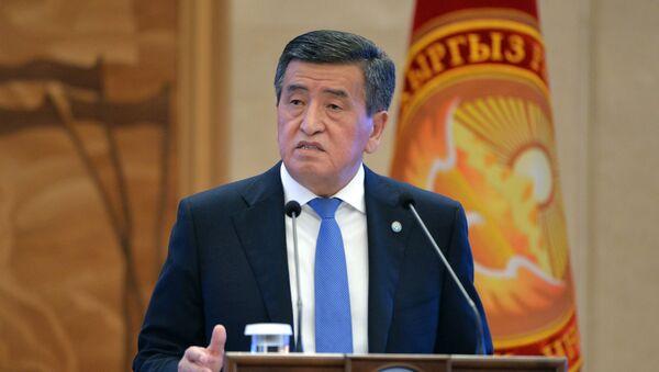 Президент КыргызстанаСооронбай Жээнбеков - Sputnik Тоҷикистон