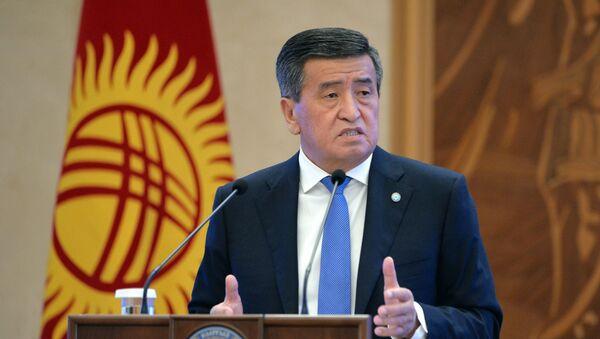 Президент КыргызстанаСооронбай Жээнбеков  - Sputnik Таджикистан
