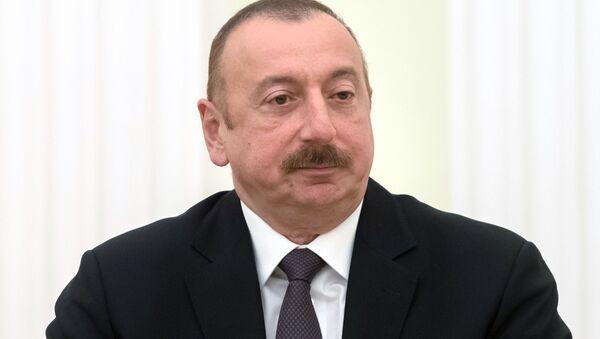 Президент Азербайджана Ильхам Алиев - Sputnik Тоҷикистон
