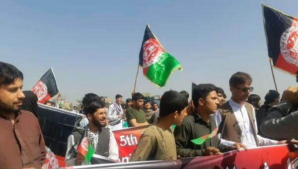Народное движение в Афганистане - Sputnik Таджикистан