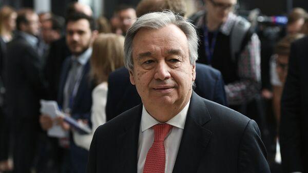Генеральный секретарь ООН Антониу Гутерриш - Sputnik Тоҷикистон