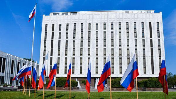 Здание посольства России в Вашингтоне - Sputnik Тоҷикистон