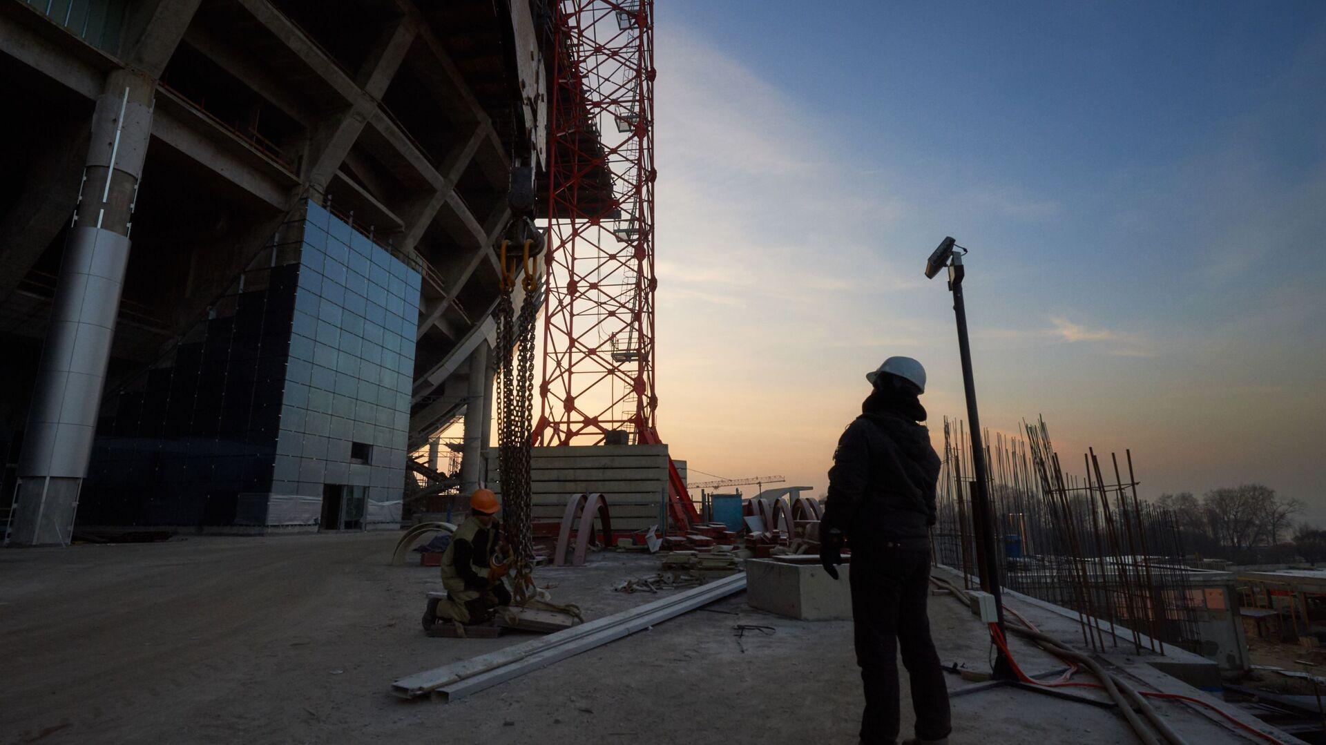 Строительство стадиона Зенит-Арена - Sputnik Таджикистан, 1920, 03.02.2021