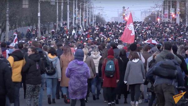 Как прошел Марш народного ультиматума в Минске? - Sputnik Тоҷикистон