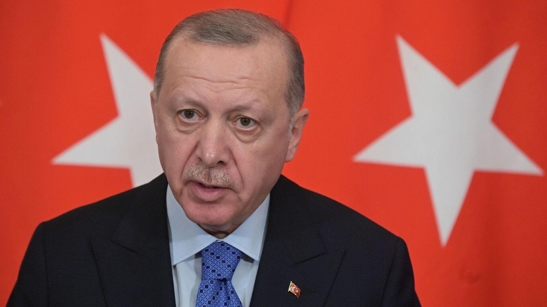 Президент Турции Реджеп Тайип Эрдоган - Sputnik Таджикистан, 1920, 21.09.2021