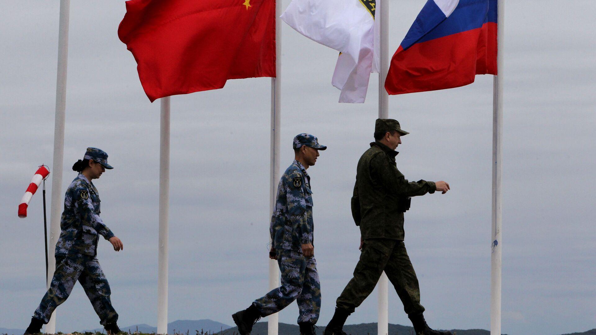Военные учения России и Китая  - Sputnik Таджикистан, 1920, 23.06.2021