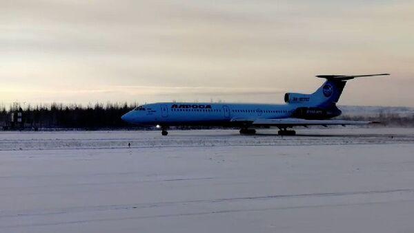 Последний в России гражданский перелет Ту-154 - Sputnik Таджикистан