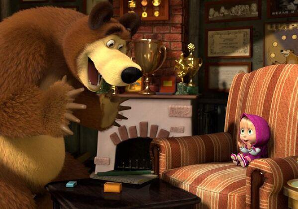 Кадр из анимационного фильма Маша и Медведь - Sputnik Таджикистан