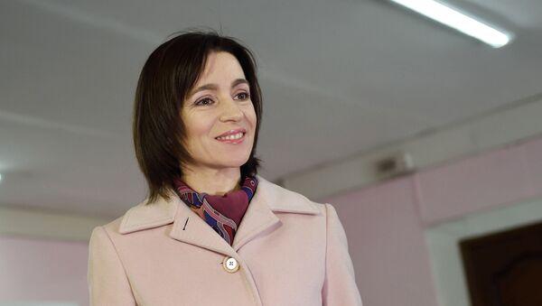 Кандидат в президенты, экс-премьер, лидер партии Действие и солидарность Майя Санду - Sputnik Таджикистан