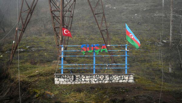 Нагорный Карабах. Российские миротворцы обеспечивают безопасность движения - Sputnik Тоҷикистон