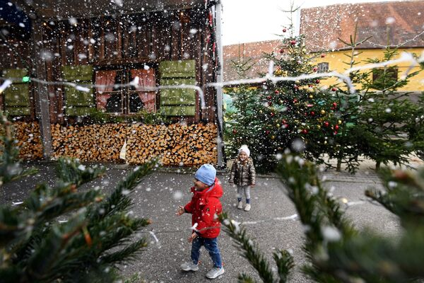 Рождественская ярмарка в Германии  - Sputnik Таджикистан