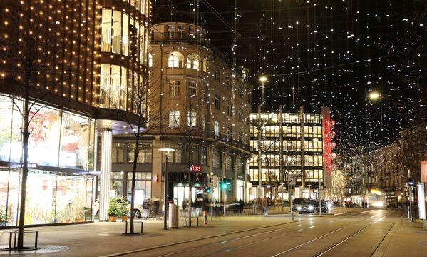 Рождественская иллюминация в Швейцарии  - Sputnik Таджикистан