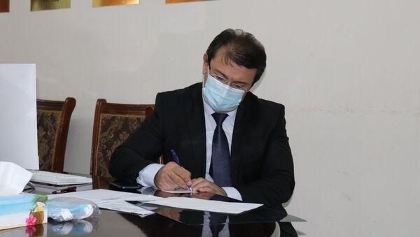 Министр здравоохранения Республики Таджикистан Джамолиддин Абдуллозода - Sputnik Тоҷикистон