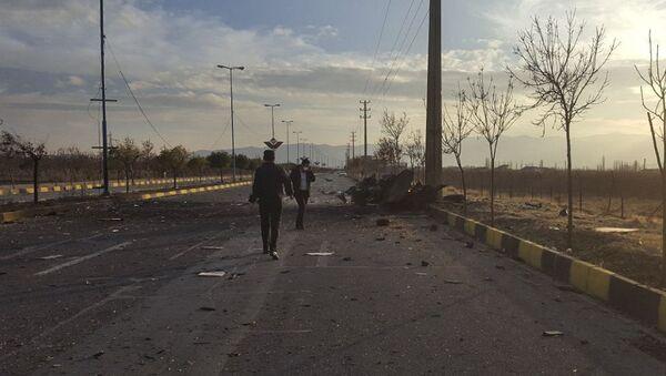 Место гибели иранского физика-ядерщика Мохсена Фахризаде - Sputnik Таджикистан